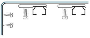 Stěnový držák kolejnice AL080