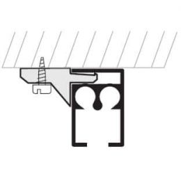 Kolejnice AL Standard montáž na strop