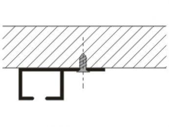 Kolejnice AL090 montáž na strop
