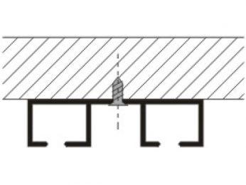 Kolejnice AL092 montáž na strop