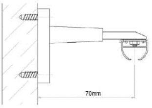 Stěnový držák záclonové kolejnice AL310