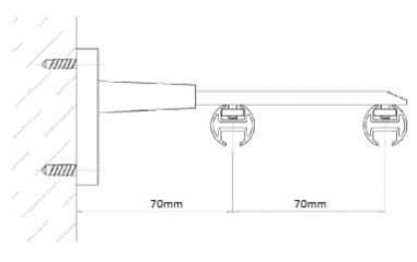 kolejnicka al410 montaz na stenu dvoukolejnice_1