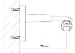 Stěnový držák záclonové kolejnice AL410