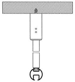 kolejnicka al410 montaz na stropni nosic