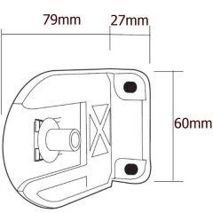 Držák pro řetízkové rolety gala pro mechanizmus pr.38mm a 42mm