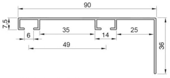 Kolejnice AL094B průřez