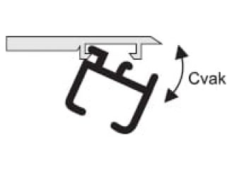 Kolejnice ALS19 montáž na strop