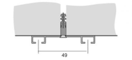 Záclonová kolejnice AL093B montáž