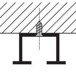 Kolejnice AL210 montáž na strop