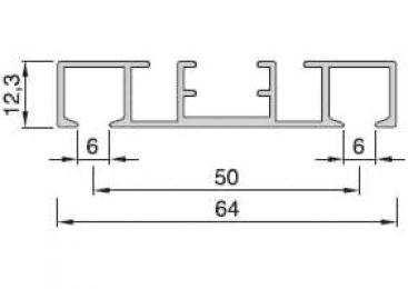 Záclonové kolejnice AL360 průřez