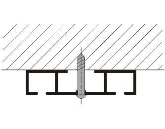 Záclonové kolejnice AL363 montáž