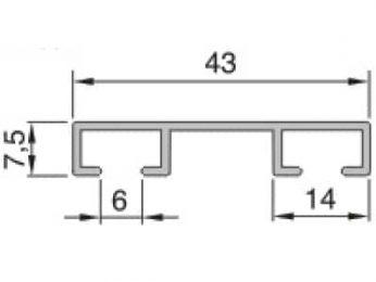 Kolejnice AL092 průřez